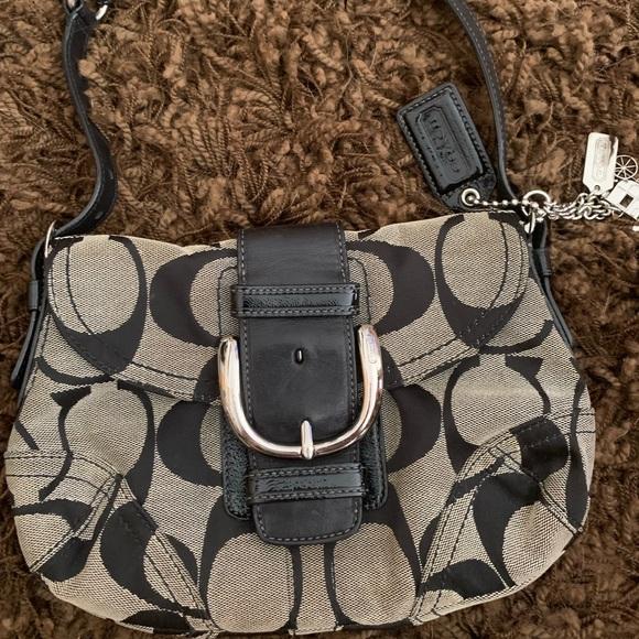 Coach Handbags - Classic Black and Gray Coach Purse